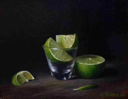 Cut Lime in Glass