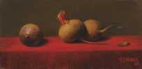 Three Beets on Red