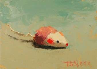 Pink and White Mouse